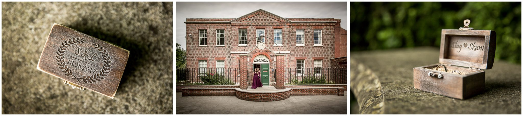 Portsmouth Registry Office wedding venue exterior and ring details