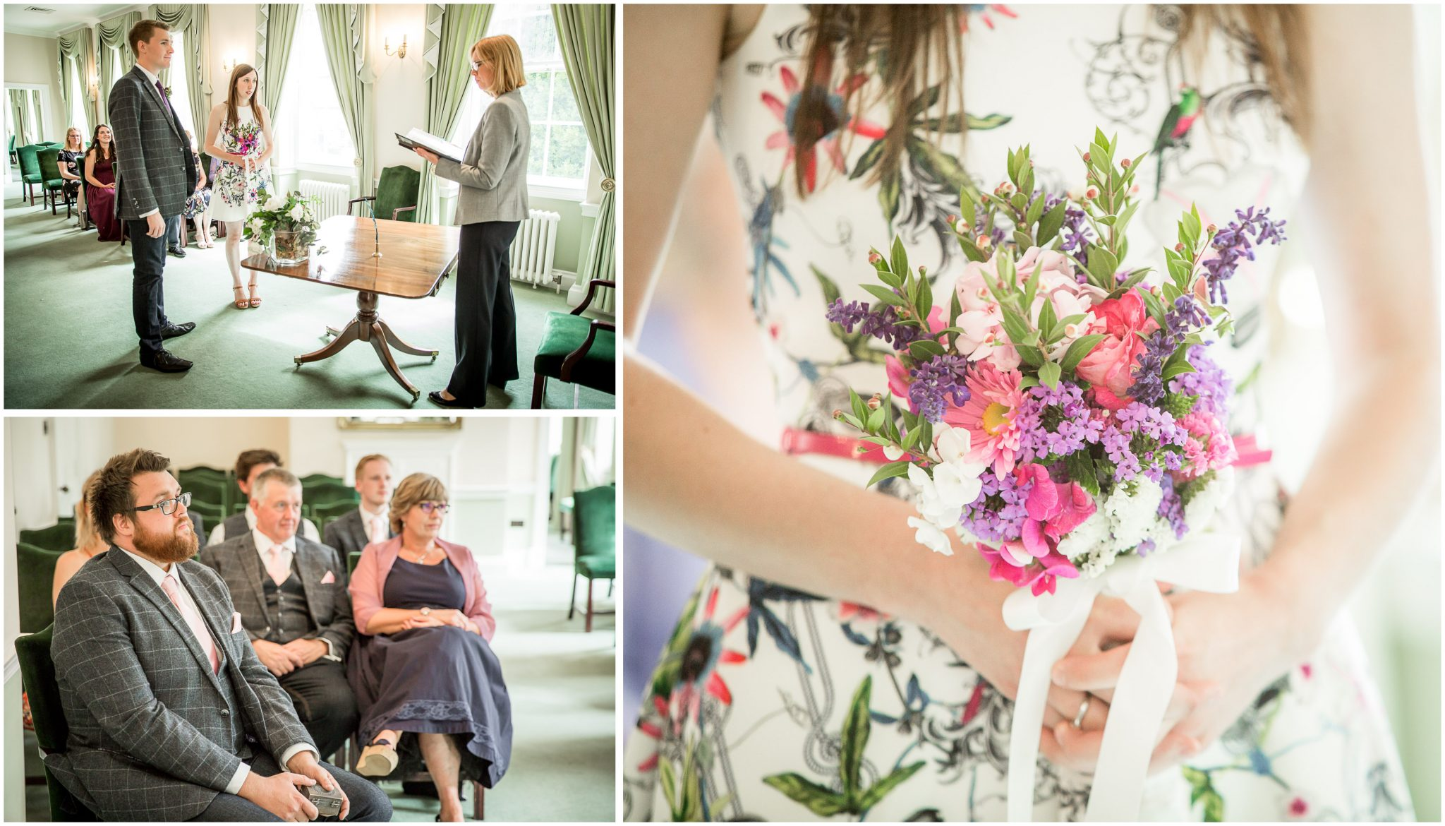 Portsmouth Registry Office wedding ceremony and floral details
