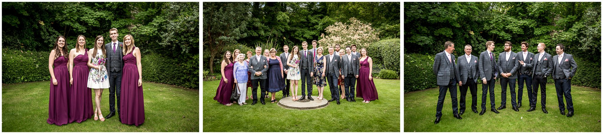 Portsmouth Registry Office wedding group photos in gardens