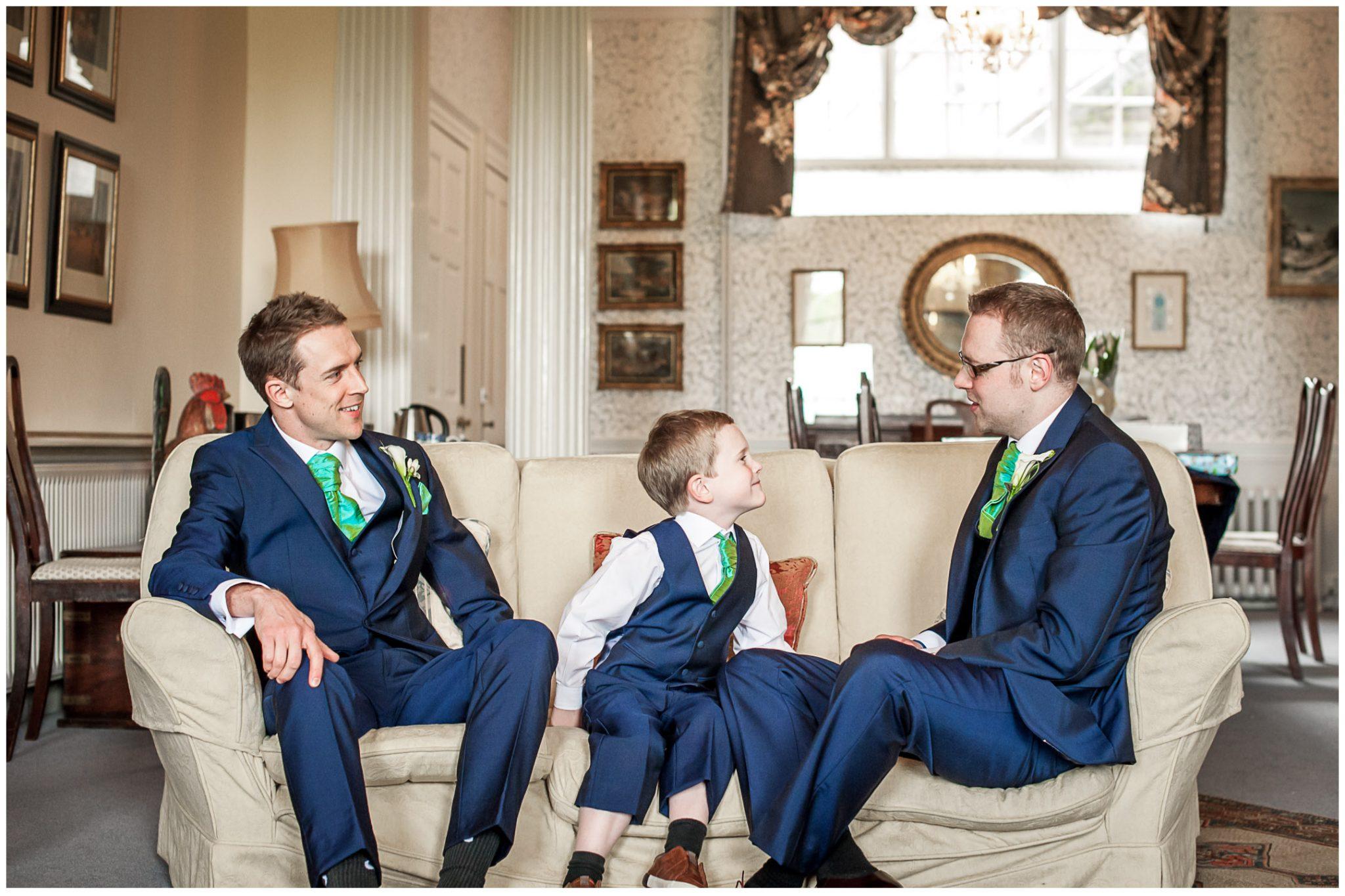 Avington Park wedding photography groom with best man