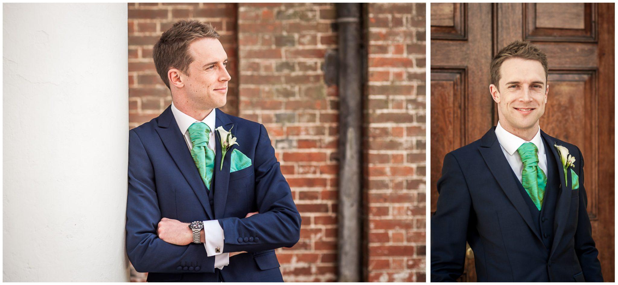Avington Park wedding photography groom colourportraits
