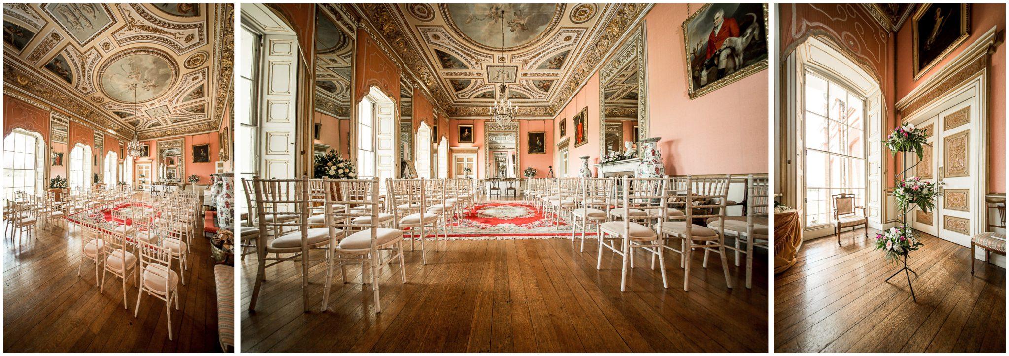 Avington Park wedding photography ceremony room