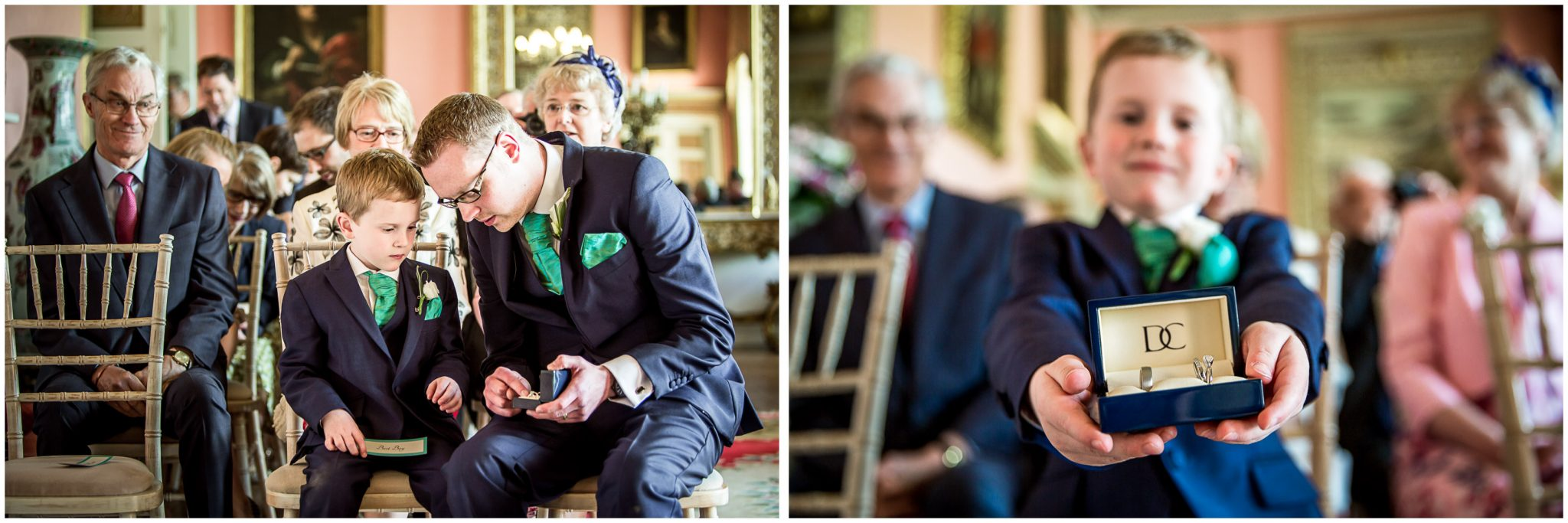 Avington Park wedding photography page boy before ceremony