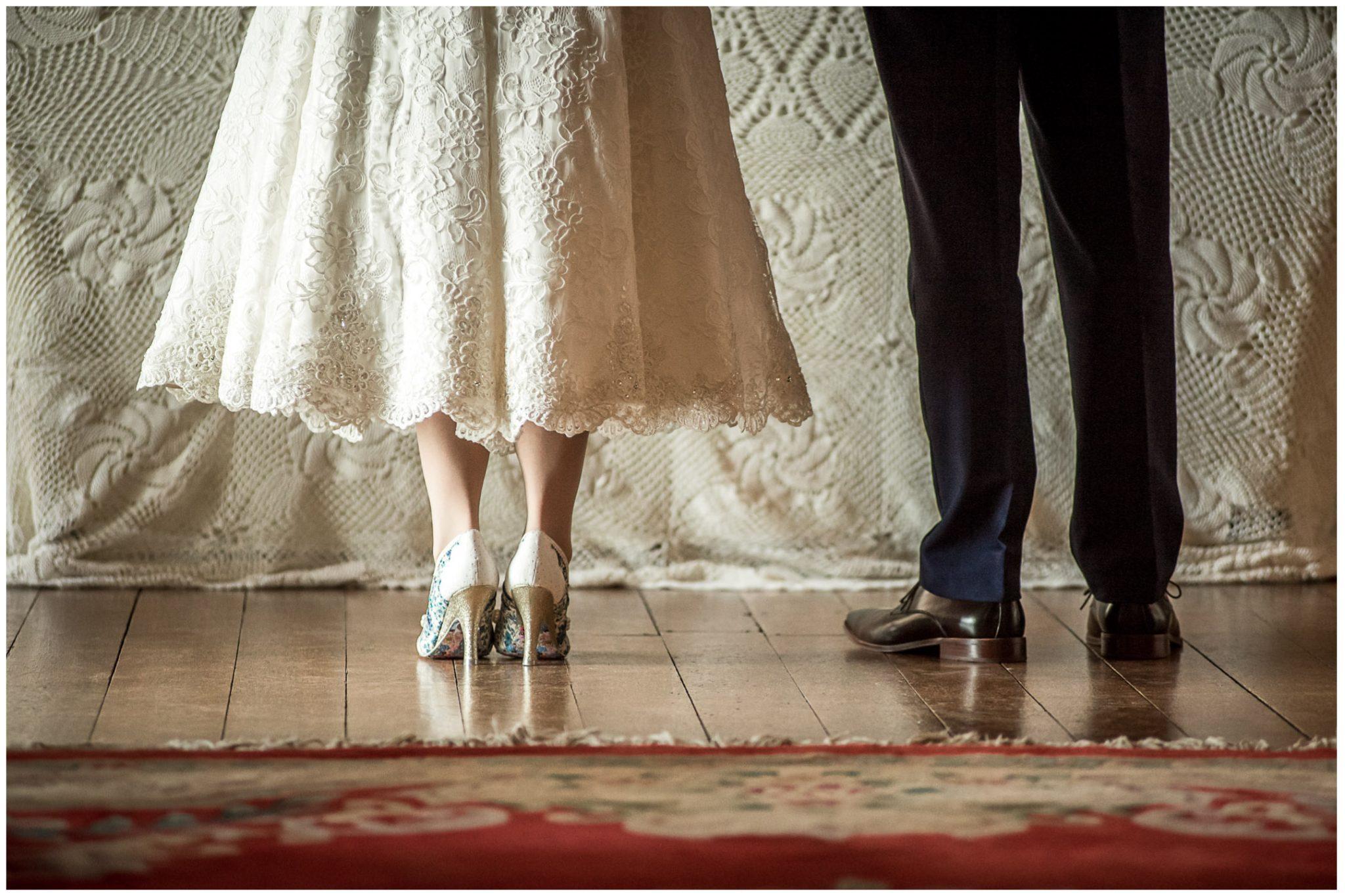 Avington Park wedding photography shoe details