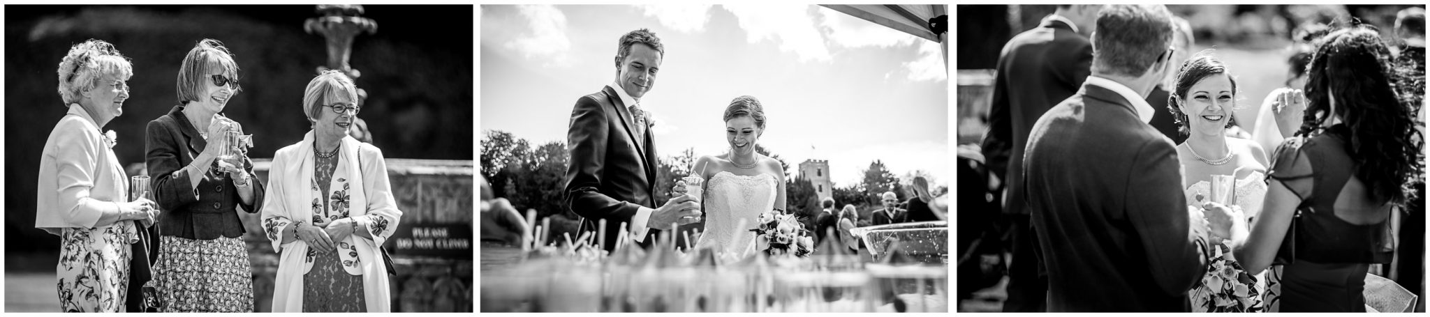 Avington Park wedding photography wedding party during drinks reception