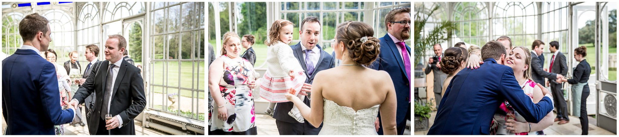 Avington Park wedding photography receiving line in conservatory