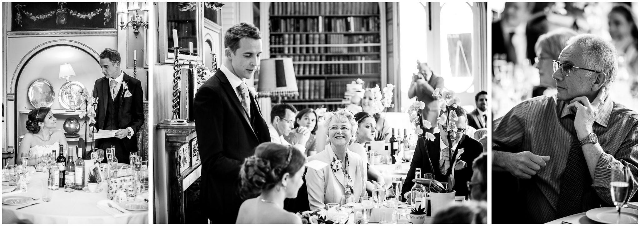 Avington Park wedding photography groom speech