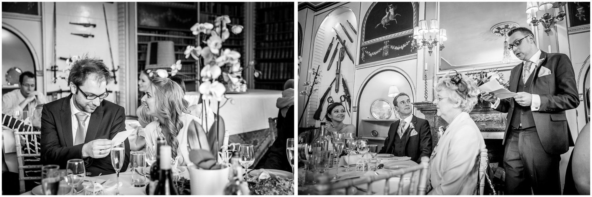 Avington Park wedding photography best man speech
