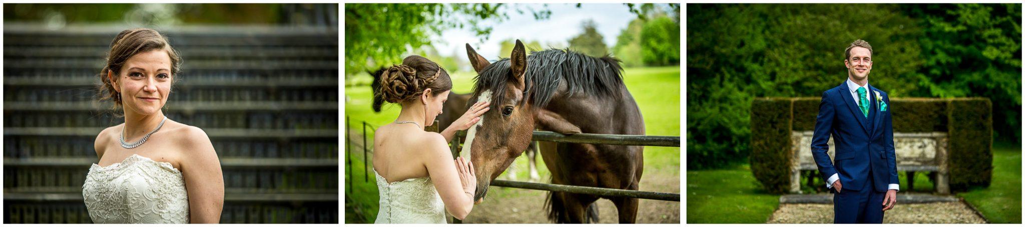 Avington Park wedding photography bride and groom portraits
