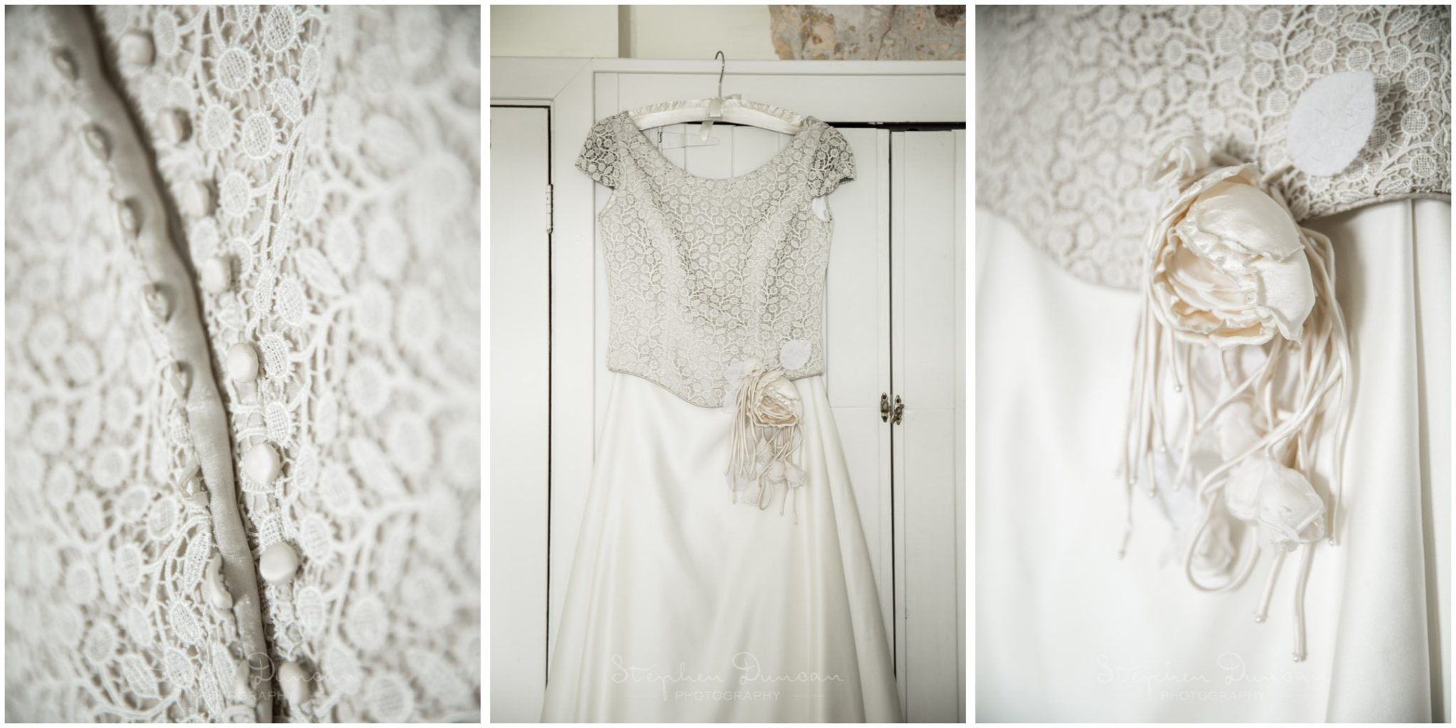 Lymington wedding photography dress hanging