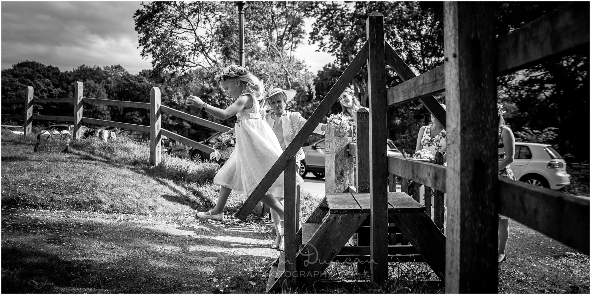 Lymington wedding photography flower girl