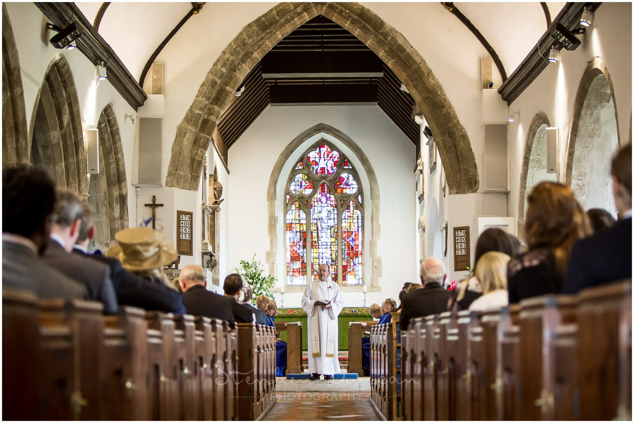 Lymington wedding photography vicar's welcome