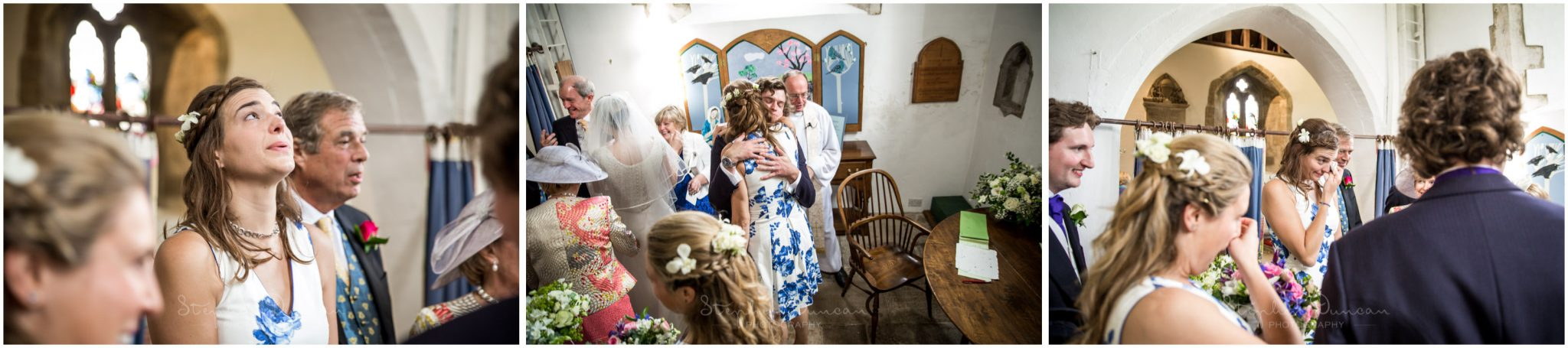 Lymington wedding photography wedding party wath signing of register