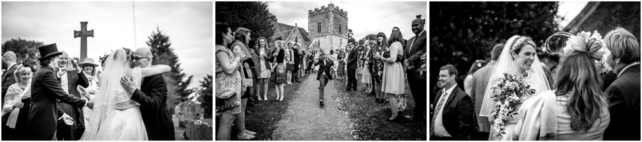 Lymington wedding photography guests outside church