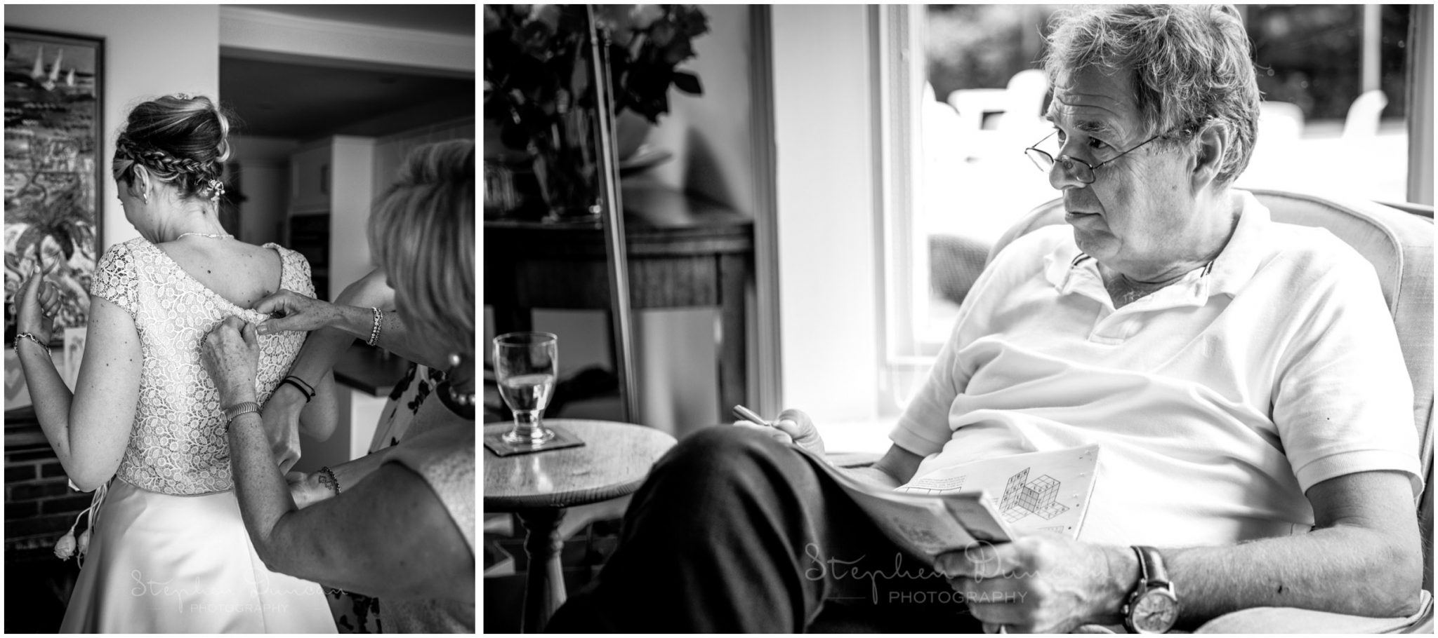 Lymington wedding photography father of the bride
