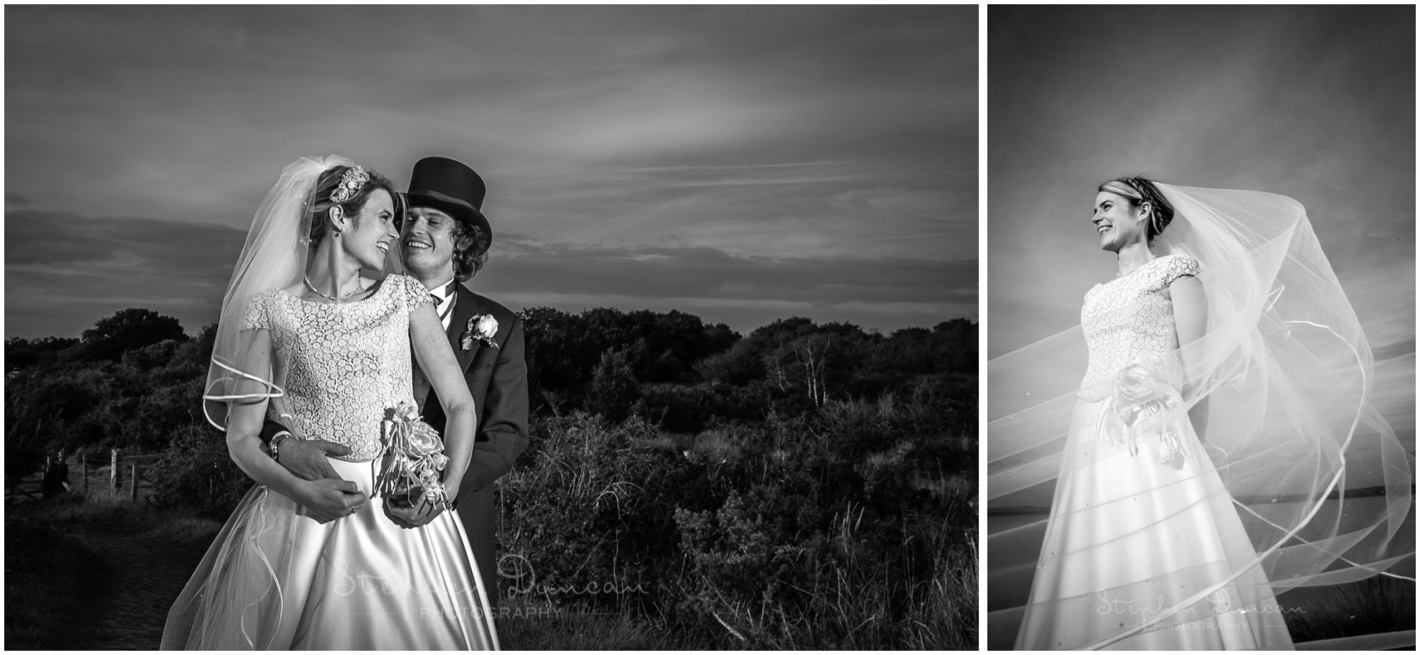 Lymington wedding photography black and white portraits