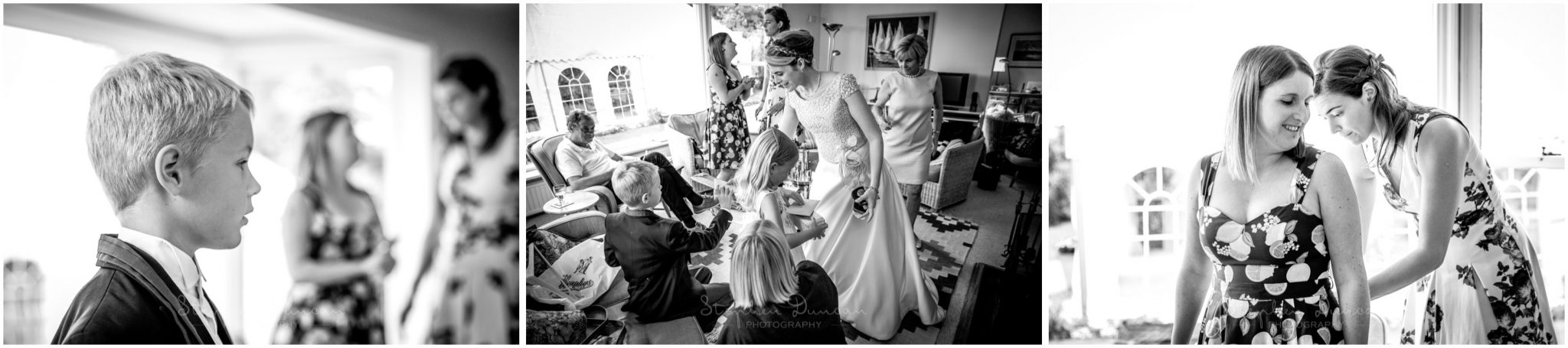 Lymington wedding photography bridal prep at home