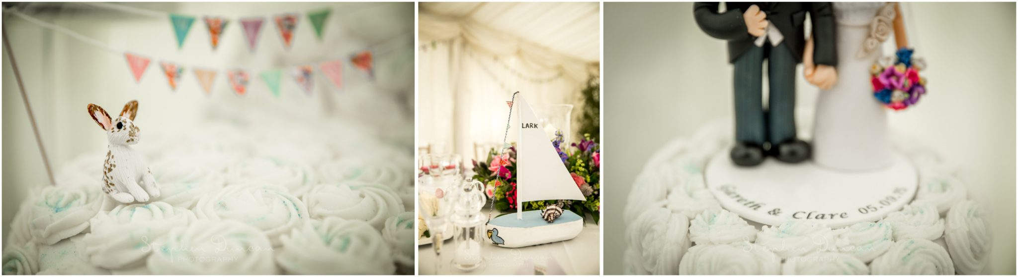 Lymington wedding photography cake details