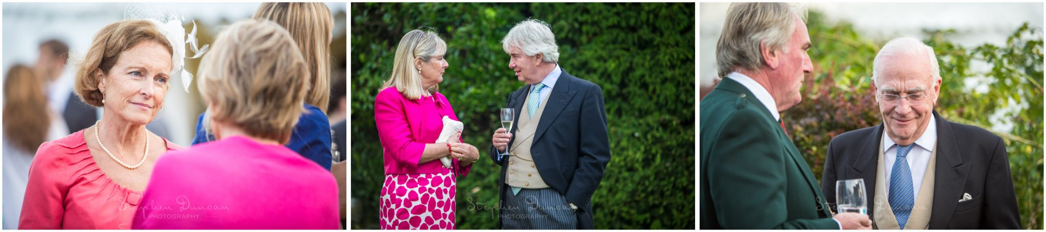 Lymington wedding photography guests in garden