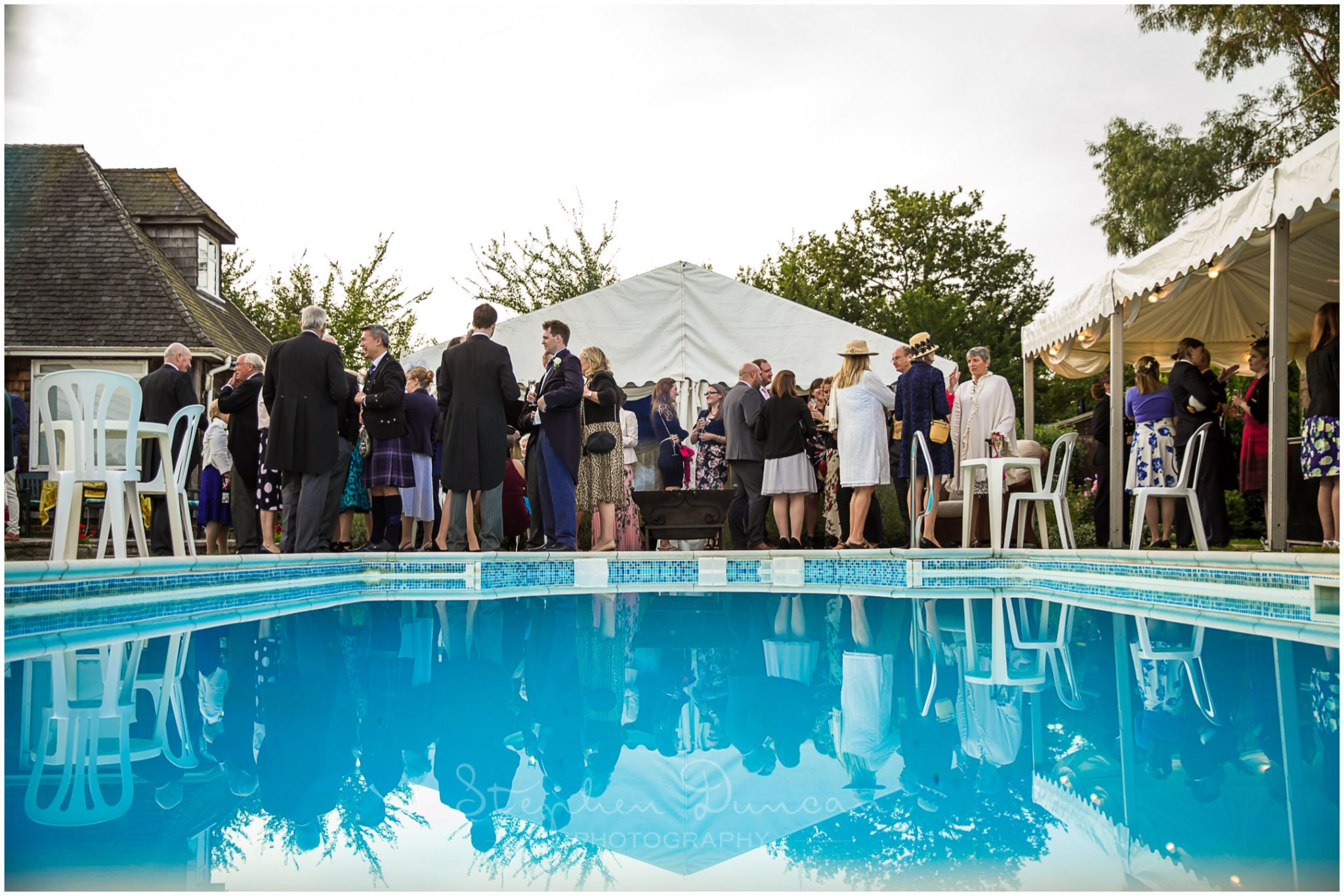 Lymington wedding photography garden reception