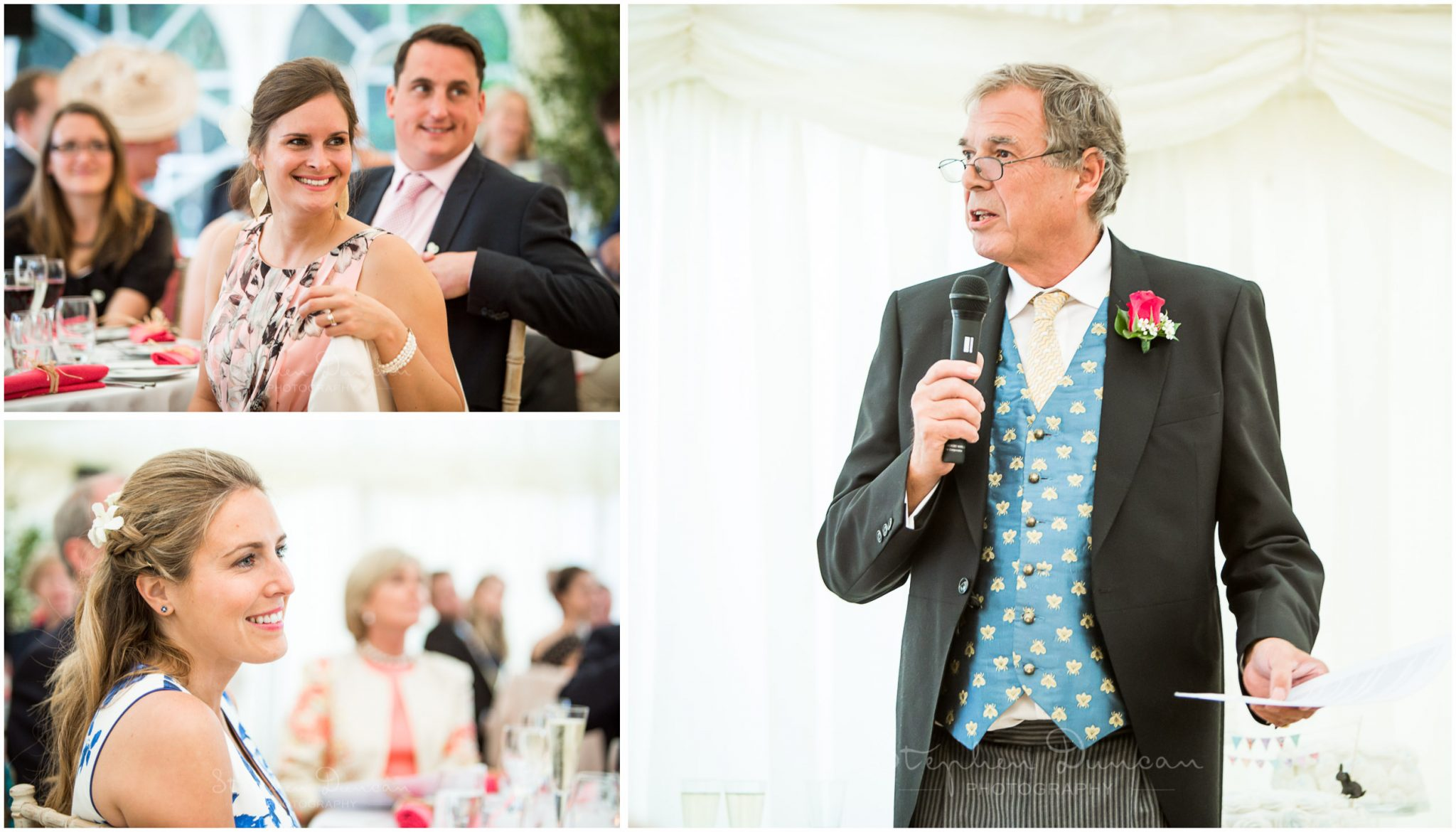 Lymington wedding photography start of the speeches