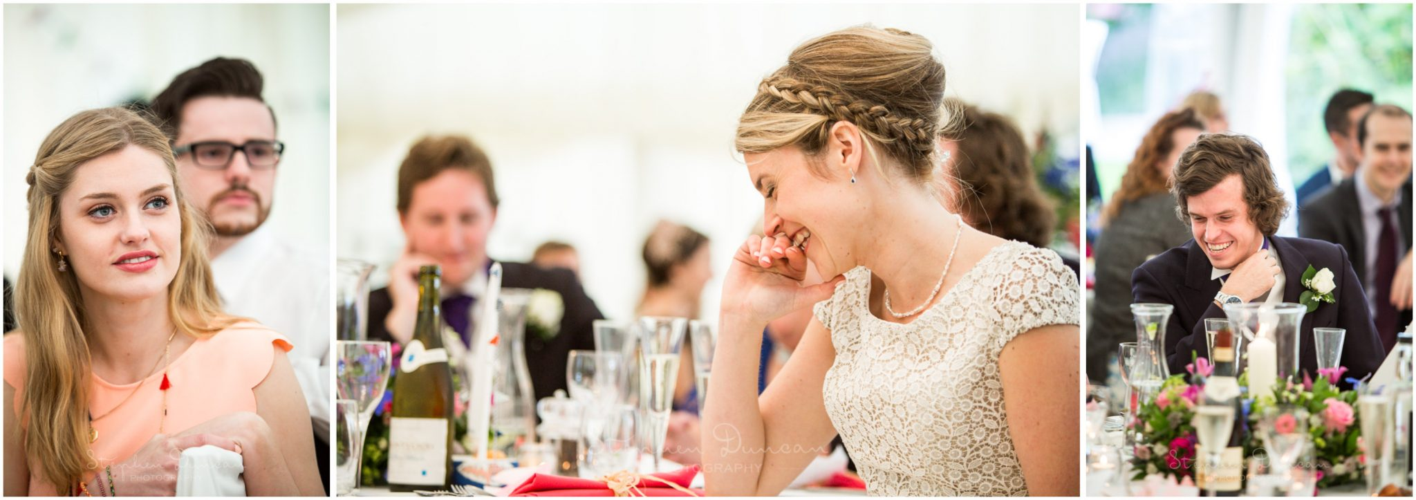 Lymington wedding photography couple listen to speeches