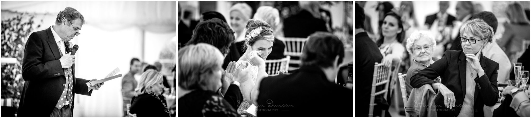 Lymington wedding photography father of the bride speech
