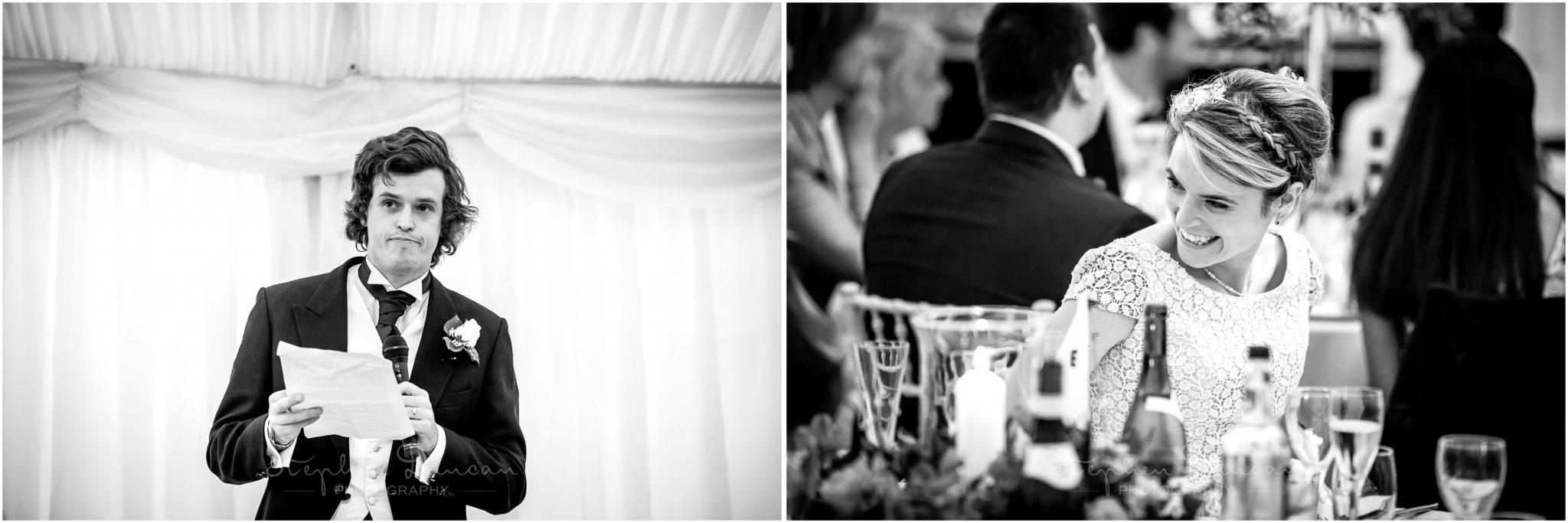 Lymington wedding photography groom speech