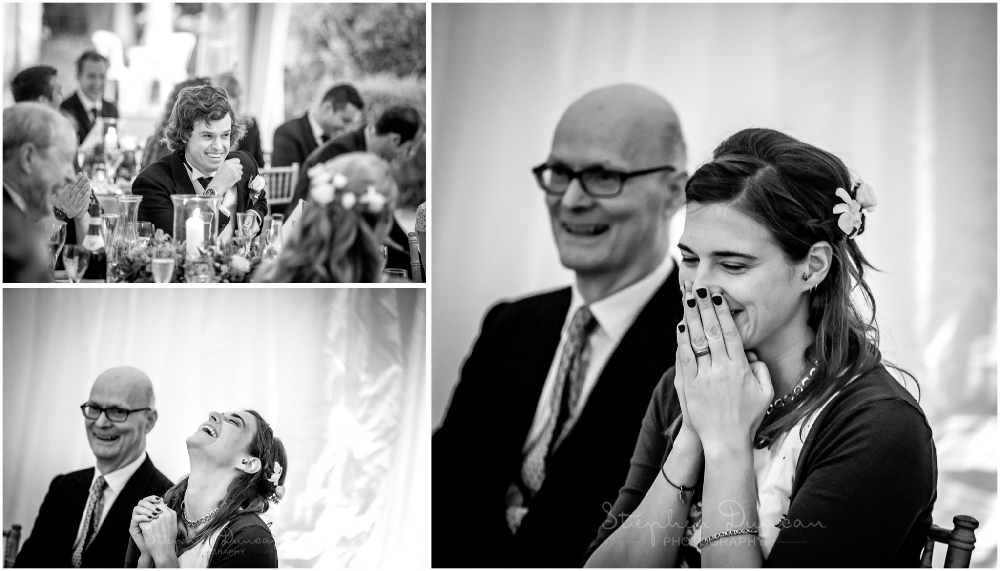 Lymington wedding photography reactions to speeches