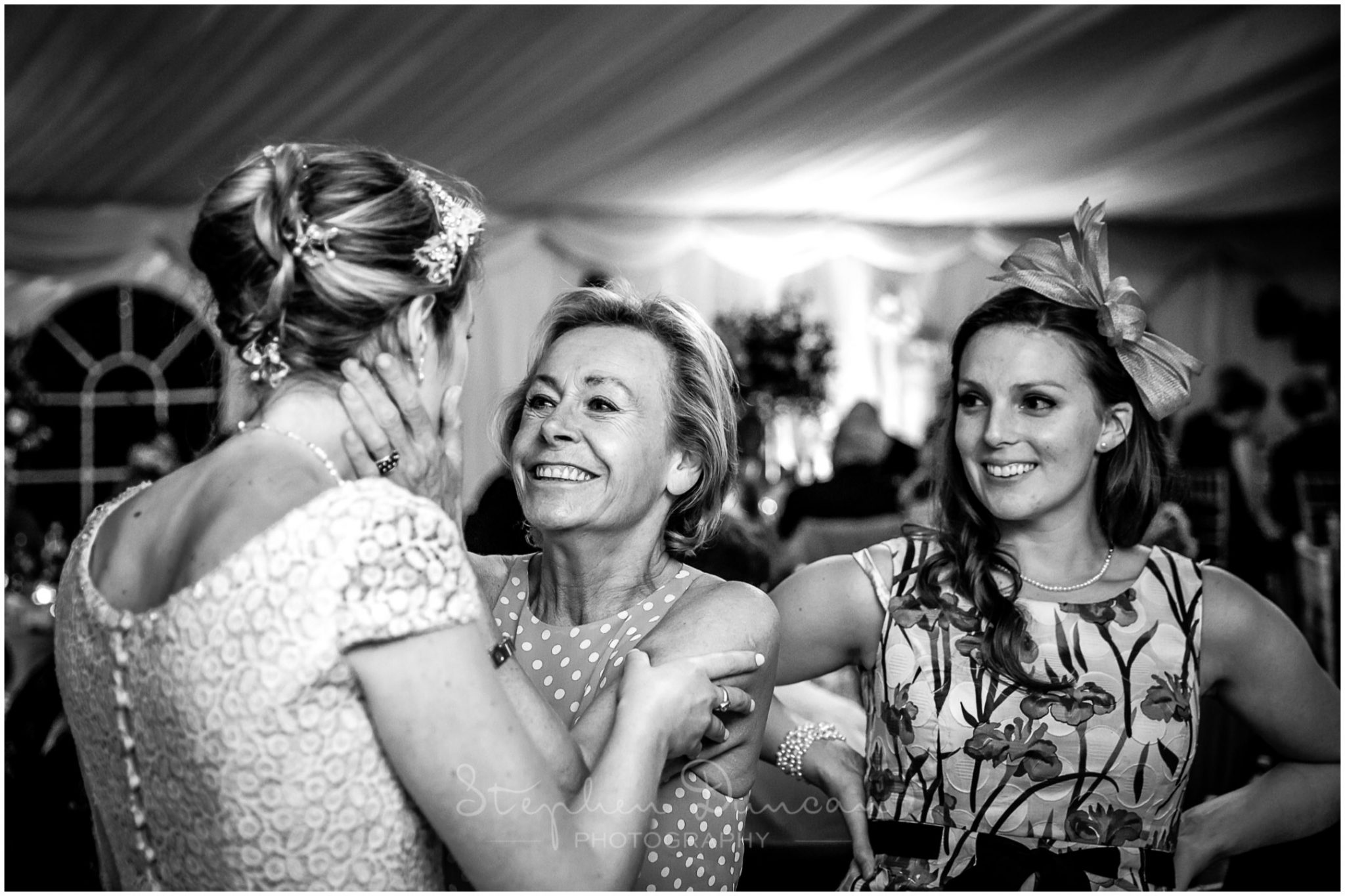 Lymington wedding photography black and white candid photo