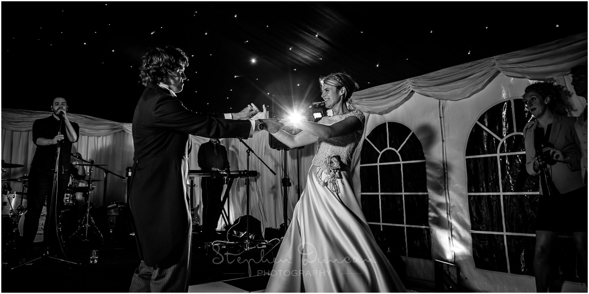 Lymington wedding photography black and white first dance photo