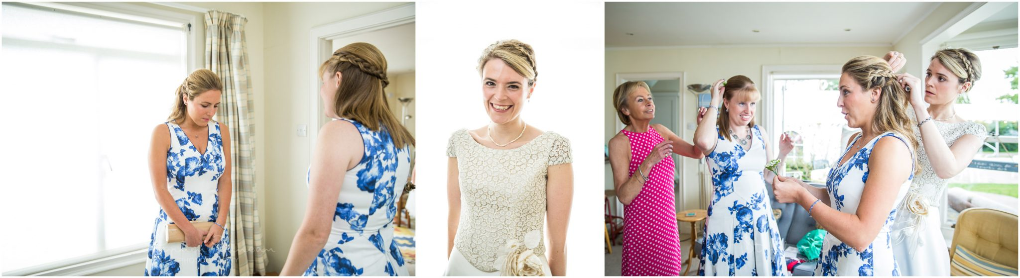 Lymington wedding photography bride with bridesmaids