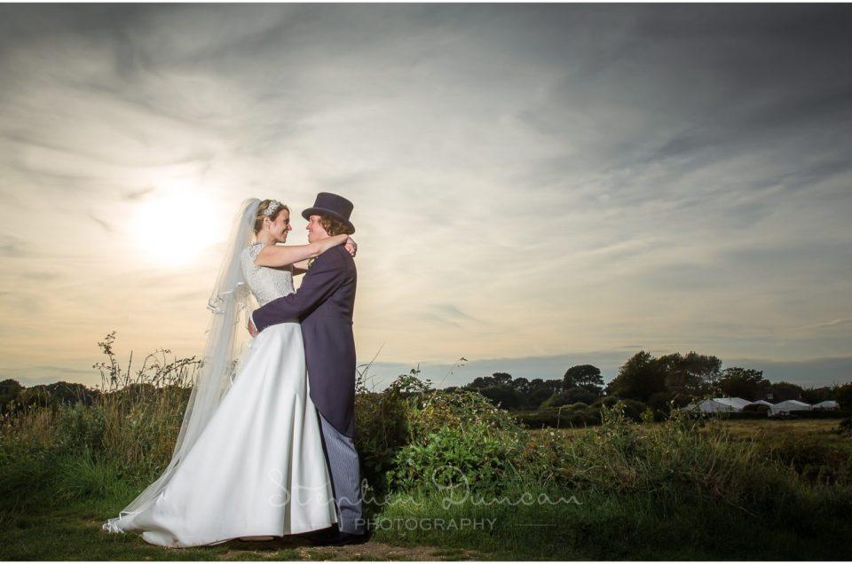 Lymington wedding photography colour portrait of couple