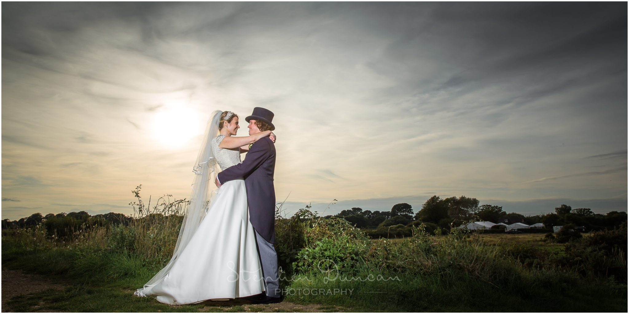 Lymington wedding photography colour portrait of couple