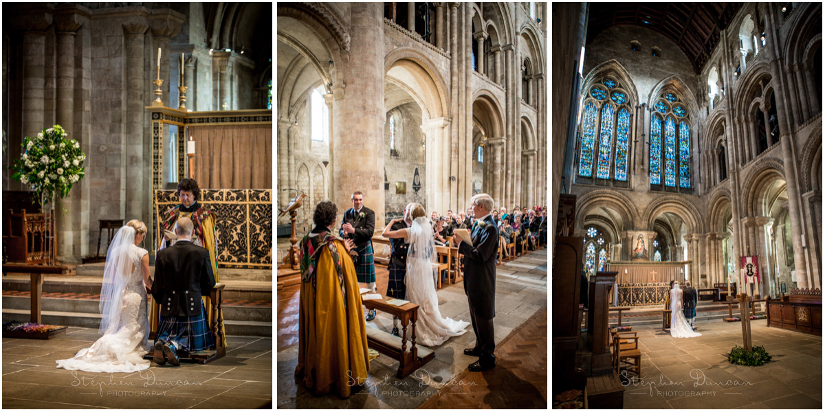 Romsey Abbey wedding photographer first kiss and blessing