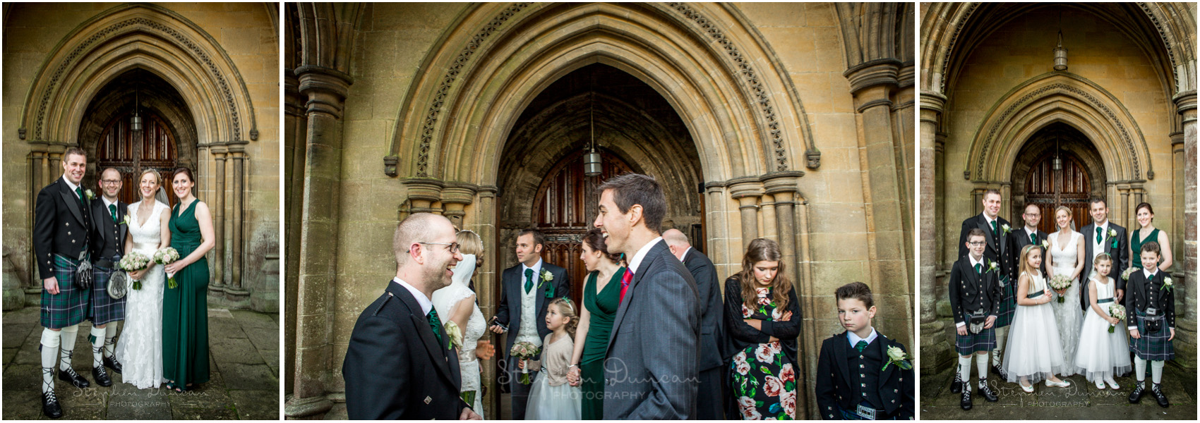 Romsey Abbey wedding photographer group photos at north door