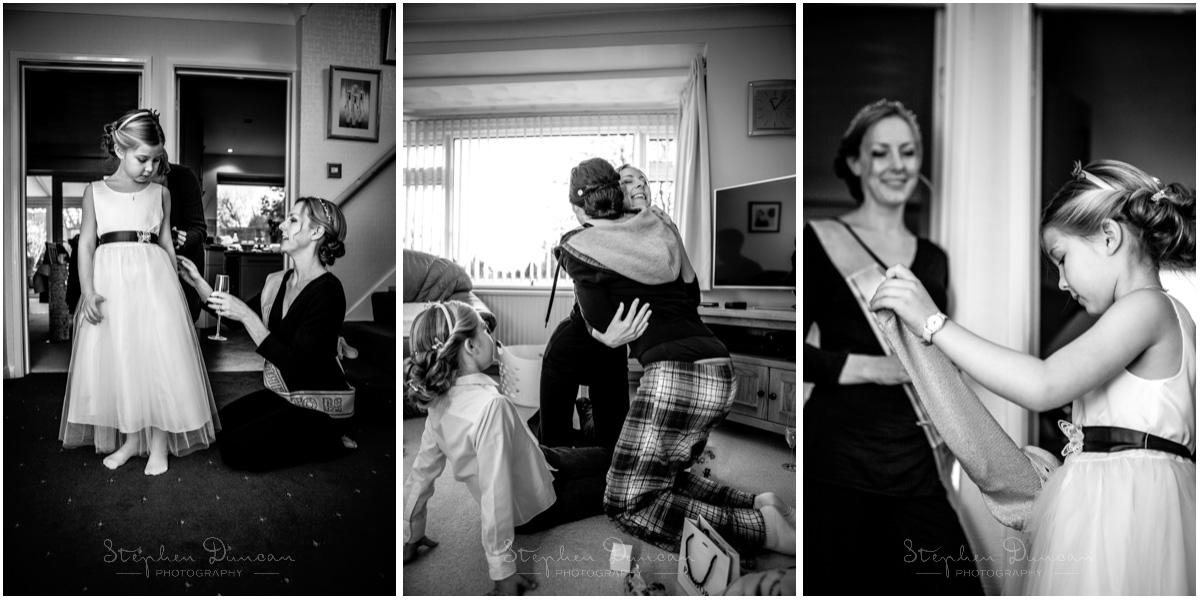 Romsey Abbey wedding photographer bride getting ready