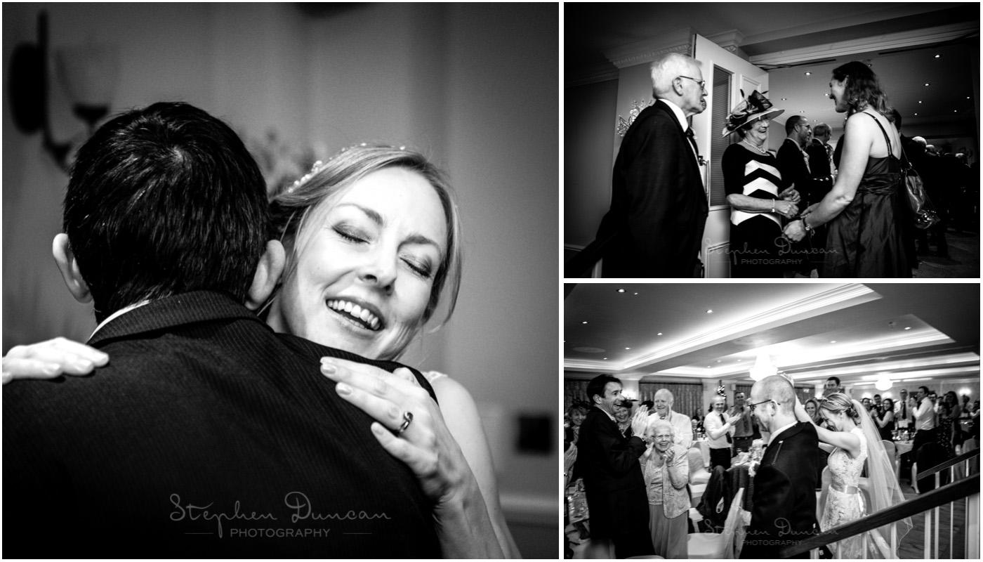 Romsey Abbey wedding photographer receiving line