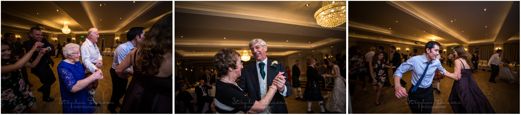 Romsey Abbey wedding photographer guests dancing at ceilidh
