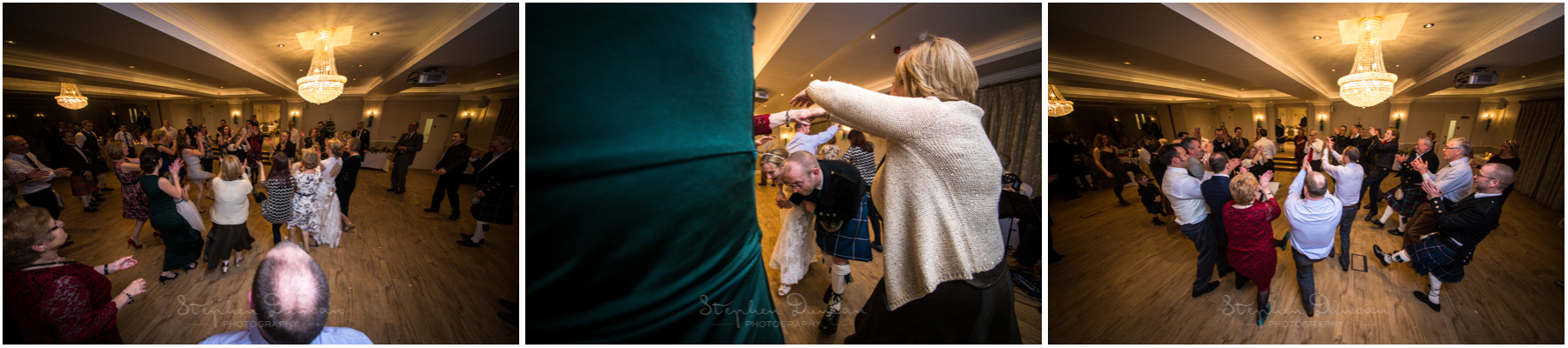 Romsey Abbey wedding photographer guests dancing