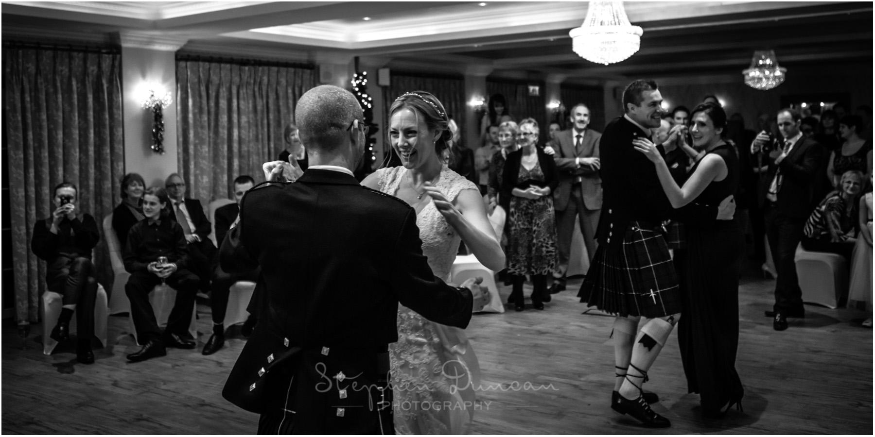 Romsey Abbey wedding photographer couple on the dancefloor