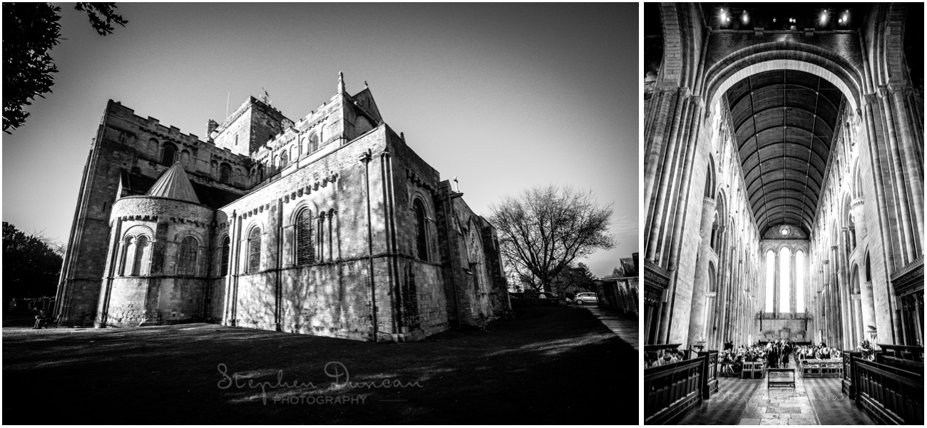 Romsey Abbey wedding photographer church in black and white