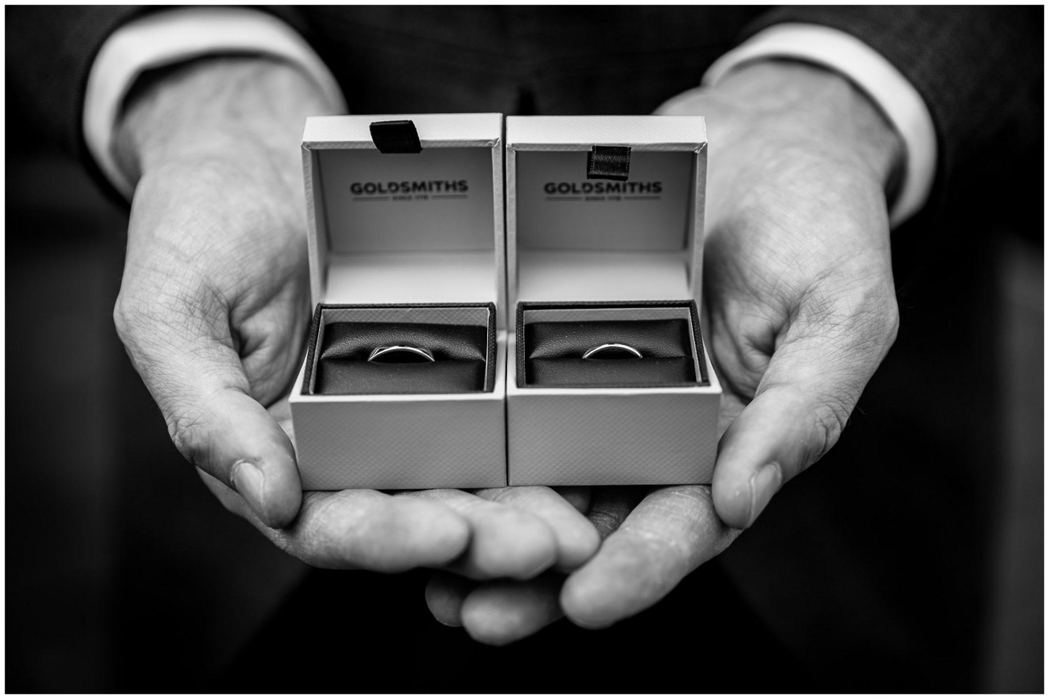 Sopley Mill wedding photography the wedding rings
