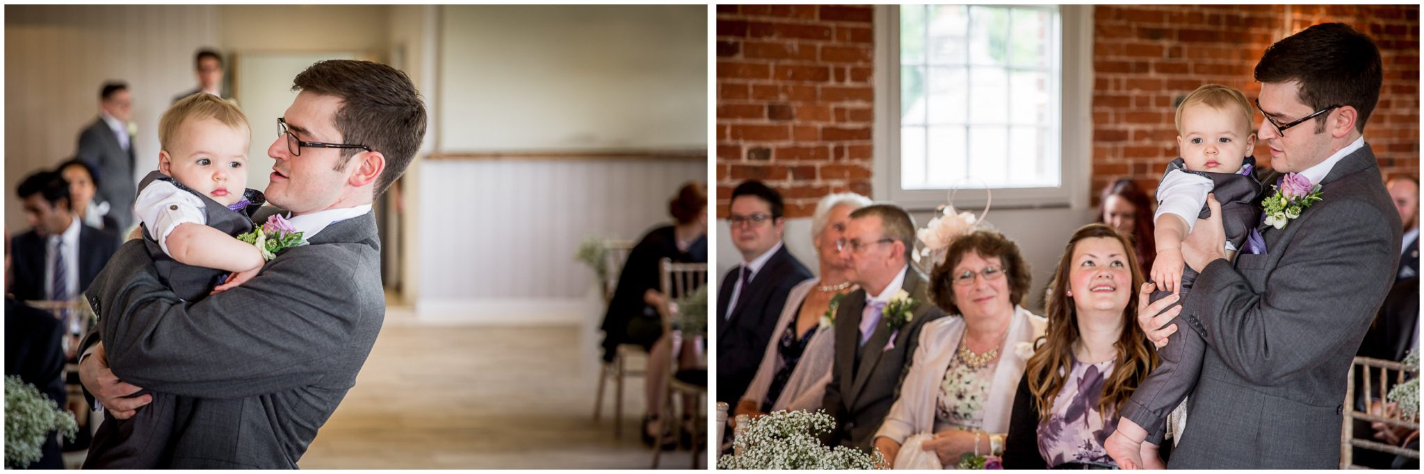 Sopley Mill wedding photography groom with tiny little page boy