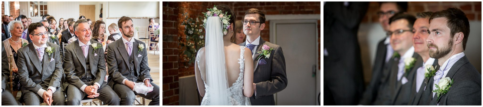 Sopley Mill wedding photography guests watch couple making vows