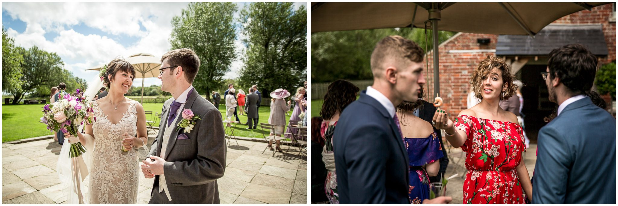 Sopley Mill wedding photography candid photos during drinks reception