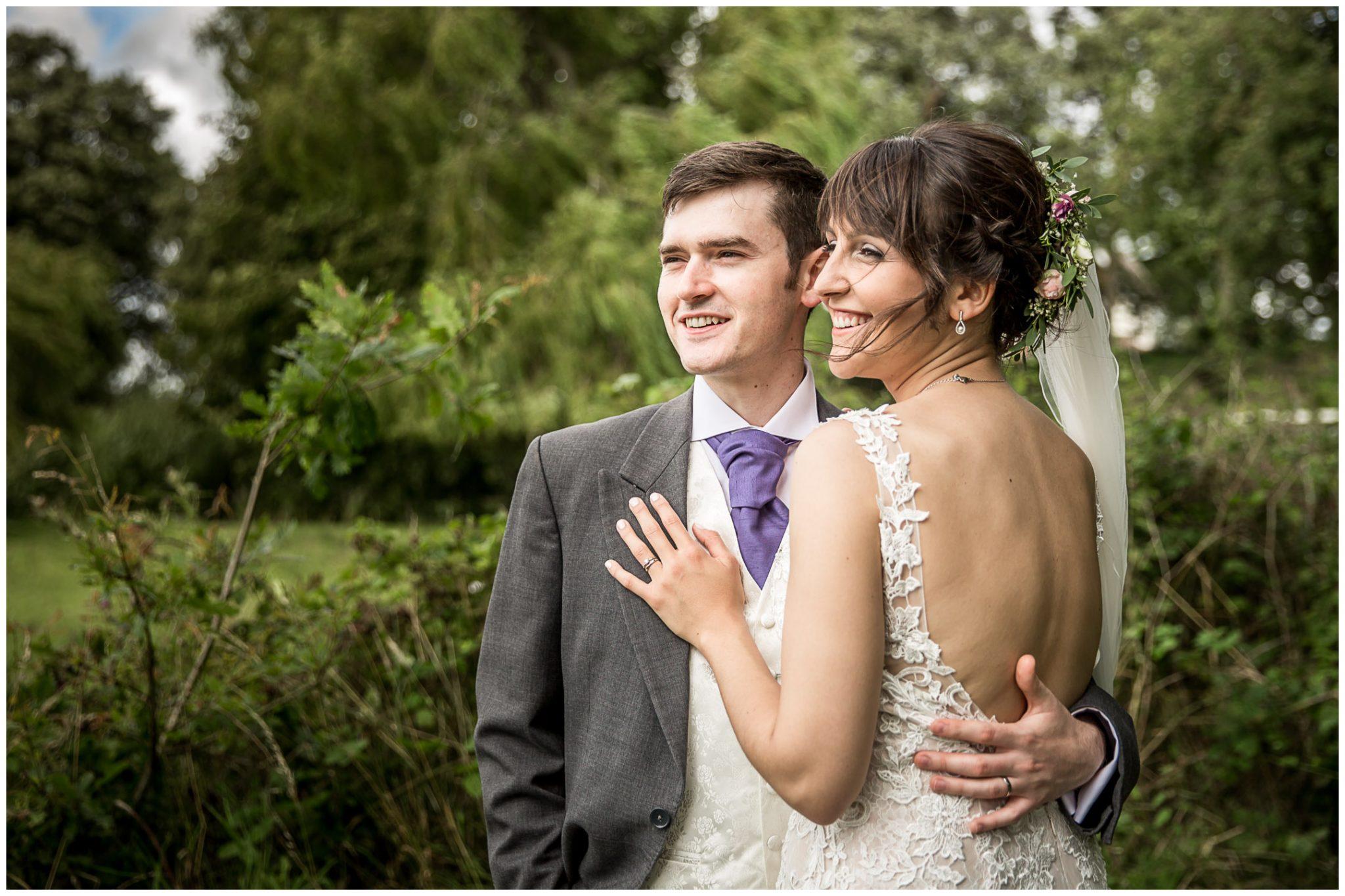 Sopley Mill wedding photography bride and groom