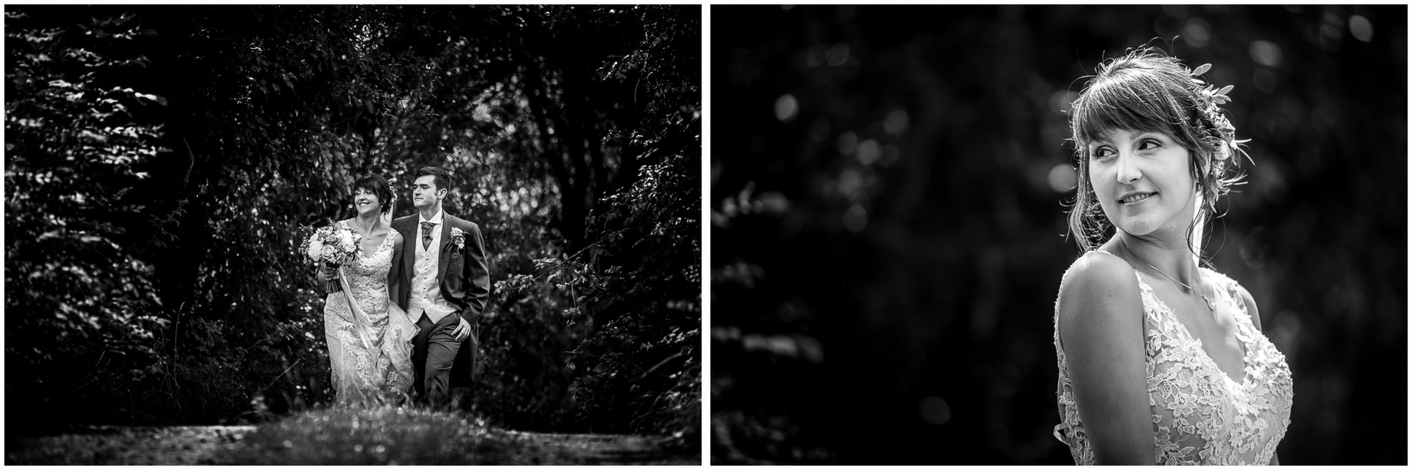 Sopley Mill wedding photography black and white bride portrait