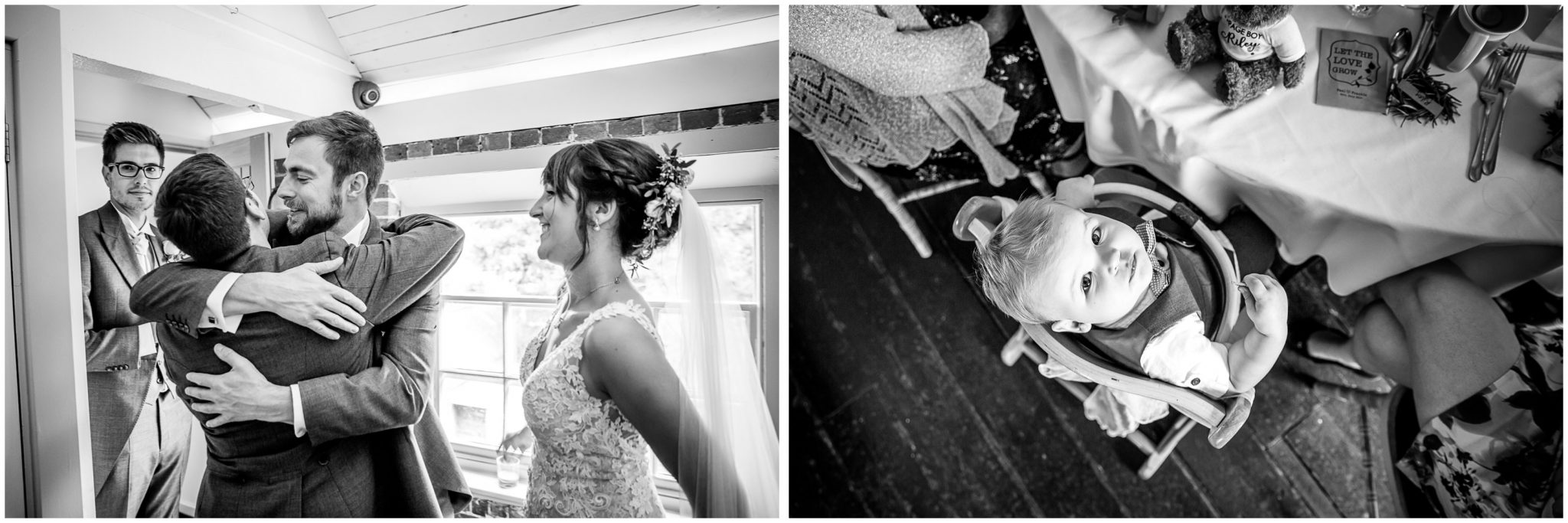 Sopley Mill wedding photography black and white guest photos