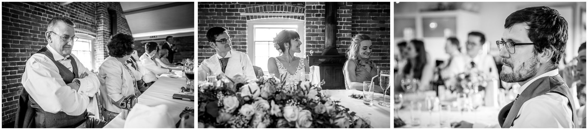 Sopley Mill wedding photography candid photographs during speeches